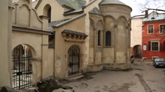 Armenian Cathedral of the Assumption of Mary in Lviv, Western Ukraine - stock footage