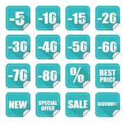 Price labels Stock Illustration