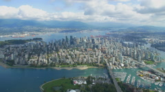 Aerial Helicopter Shots Vancouver Stock Footage