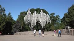 The Sibelius Monument, Sibelius Park, Helsinki, Finland. Stock Footage