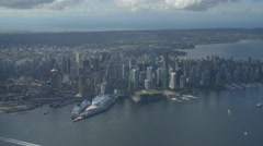 Stable Aerial Helicopter Shots Vancouver Stock Footage