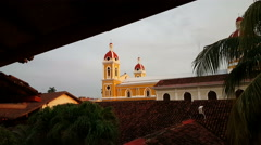 Cathedral of Granada, Nicaragua Stock Footage