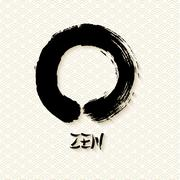 Simple Zen circle illustration traditional enso Stock Illustration