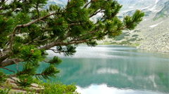 Breathtaking view of a lake in the Pirin mountain, Bulgaria, dolly Stock Footage