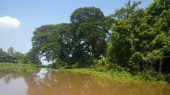 Cruising on the lake of Nicaragua Stock Footage