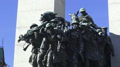 Stock Video Footage of The National War Memorial, Ottawa, Ontario 2015