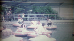 1962: Disneyland flying saucer ride iconic early Disney showcasing innovation  - stock footage