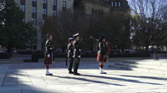 Changing Guards at The National War Memorial, Ottawa, Ontario 2015 Stock Footage