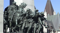 The National War Memorial, Ottawa, Ontario 2015 Stock Footage