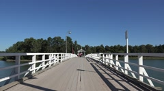 The causeway (in 4k) leading on to Seurasaari Island, Helsinki, Finland. Stock Footage