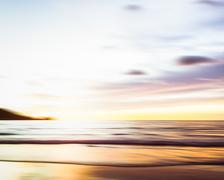 Abstract seascape with blurred panning motion background Stock Photos