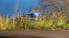 Modern RC UAV Drone quadcopter - stock footage