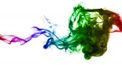 Rainbow dye Stock Footage