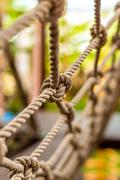 Rope Knot Texture / Rope Knot / Close-up Rope Knot Revealing Texture - stock photo