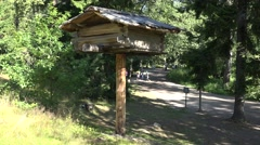 A tree storehouse (in 4k) on Seurasaari Island, Helsinki, Finland. Stock Footage