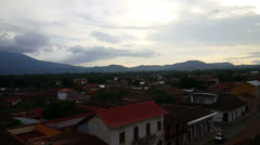 Overview Granada from rooftop Iglesia La Merced Stock Footage