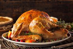 Homemade Roasted Thanksgiving Day Turkey Stock Photos