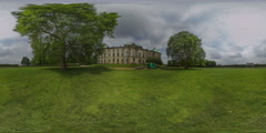 360 VR Video Japanese Palace Dresden Germany Timelapse - stock footage