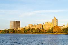 Fall season trees in Central Park - stock photo