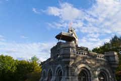 Belvedere castle in autumn - stock photo