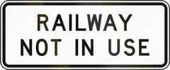 New Zealand road sign - Railway not in use Stock Illustration