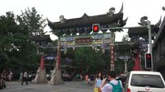 Gates Of Wenshu Monastery Stock Footage