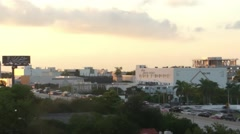 Evening Traffic in Miami Design District Stock Footage