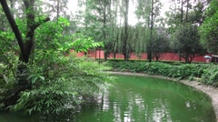 Pond In The Garden Of The Wenshu Monastery 02 Stock Footage