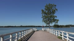 Looking out to Seurasaari Bay on Seurasaari Island, Helsinki, Finland. Stock Footage