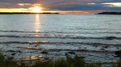 Sunset on Lake Onega, Karelia, 4k Stock Footage