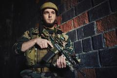 Soldier of special forces Stock Photos