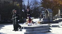 Changing Guards at The National War Memorial, Ottawa, Ontario 2015 - stock footage