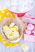 mini meringues - stock photo