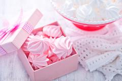 mini meringues - stock photo
