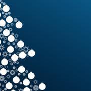Christmas tree and holiday balls background Stock Illustration