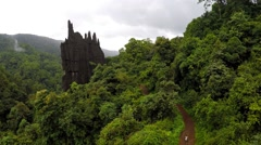 Yana Rocks in India Stock Footage