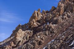 View of mountain in Tibet, China Stock Photos