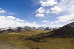 Tanggula mountains in Tibet, China Stock Photos