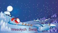 Santa Claus arrived Stock Illustration