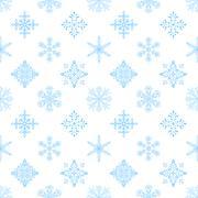 Snowflakes, Seamless Wallpaper - stock illustration