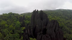 Aerial Shot of  Limestone Formation Stock Footage