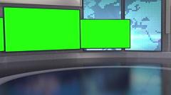 Contemporary News Studio HD Stock Footage