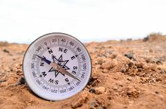 Orientation Concept Metal Compass Stock Photos