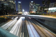 8K Freeway Traffic Time Lapse UHD 02 LA Downtown 110 Freeway Loop Stock Footage