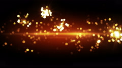 Orange fireworks beautiful bokeh loopable background 4k (4096x2304) Stock Footage