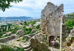 Ruins of the Church of St. Catherine, Old Bar, Montenegro - stock photo