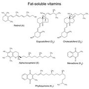 Stock Illustration of Chemical formulas of liposoluble vitamins