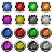 Attachment button set Stock Illustration