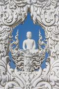 buddha at wat rong khun, chiang rai, province, thailand - stock photo