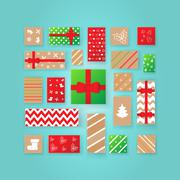 Christmas Advent calendar. Stock Illustration
